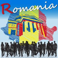 Symbol of Romania, member of EU