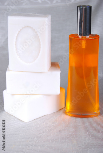 White soap and oil
