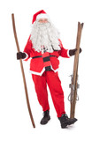 Santa Claus with skis