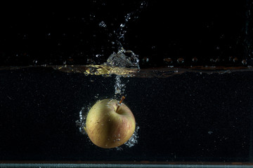Apple water splash