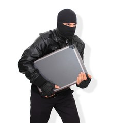 A thief with stolen case