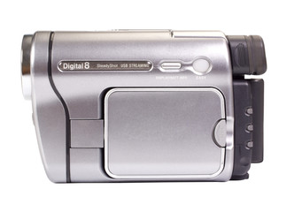 Close-up of a home video camera