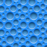 Blue seamless dotted plastic background