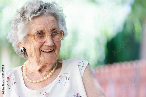 Fototapeta elderly woman
