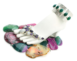 Foot with gemstones
