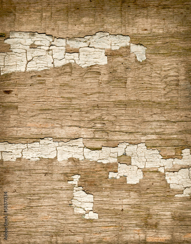 old wooden background with cracked paint