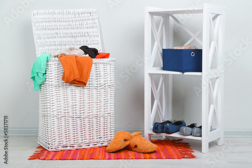 Full laundry basket