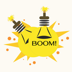 Bulb Bomb,Vector Illustration