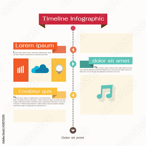 Timeline Web Element Template. Vector illustration