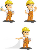 Industrial Construction Worker Mascot 7