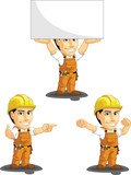 Industrial Construction Worker Mascot 8