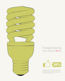 Illustration of energy saving bulb