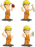 Industrial Construction Worker Mascot 10