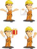 Industrial Construction Worker Mascot 11