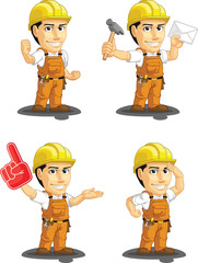 Industrial Construction Worker Mascot 9
