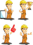 Industrial Construction Worker Mascot 15
