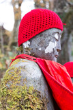 Jizo statue in Kanmangafuchi,Nikko,Japan,This particular group o