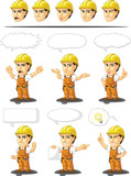 Industrial Construction Worker Mascot 17