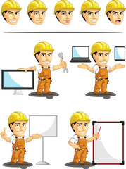 Industrial Construction Worker Mascot 16