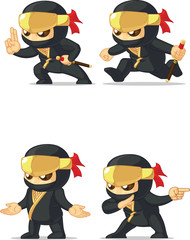Ninja Customizable Mascot 15