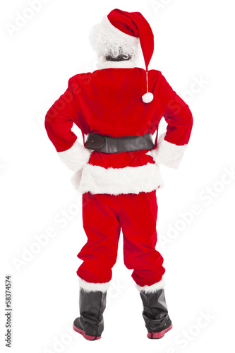 merry Christmas Santa Claus standing and back view