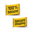100% secure shopping labels