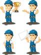 Technician or Repairman Mascot 5