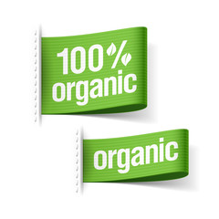 100% organic product labels