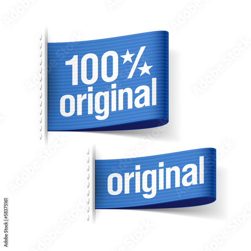100% original product labels
