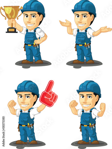 Technician or Repairman Mascot 14