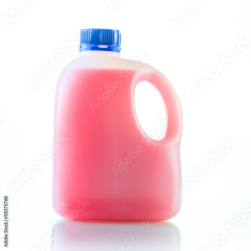 Gallons bottle of pink liquid