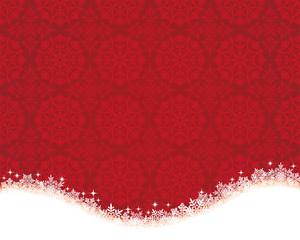 クリスマス 赤の刺繍と雪の背景