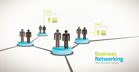Business illustration of networking people