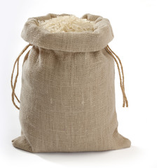 Sack with rice