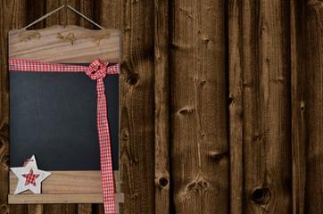 leere Tafel  Weihnachten altes Holz