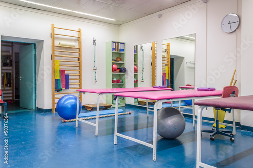 Empty room in physiotherapy clinic