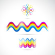 Colorful abstract vector shapes