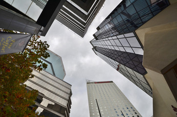 Skyscrapers in the center of the central business Sidney.Avstral
