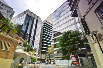 The streets of the central business district of Sydney. Australi