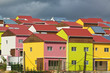 Colorful new homes on Caribbean island