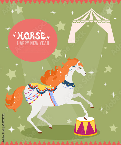 GIE0431 말 서커스 Horse illustration