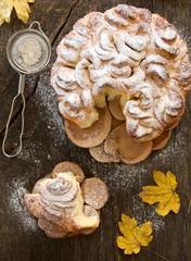 Sweet braided bread