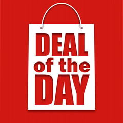 Deal of the day poster with bag