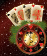 New 2014 Year poker style, vector illustration