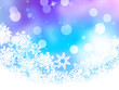 Blue background with snowflakes. EPS 10