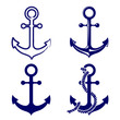 anchor symbols set vector  illustration - 58379711