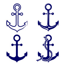 Anchor Symbols Set   Illustration Sticker