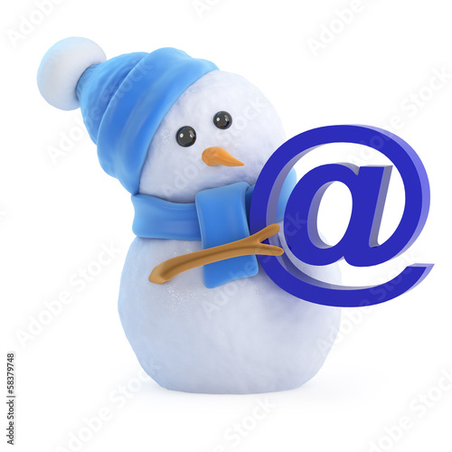 Snowman has an email address