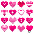 Iconset Abstract Hearts Pink