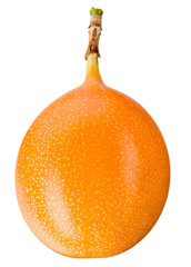 Granadilla. Passion fruit isolated on white